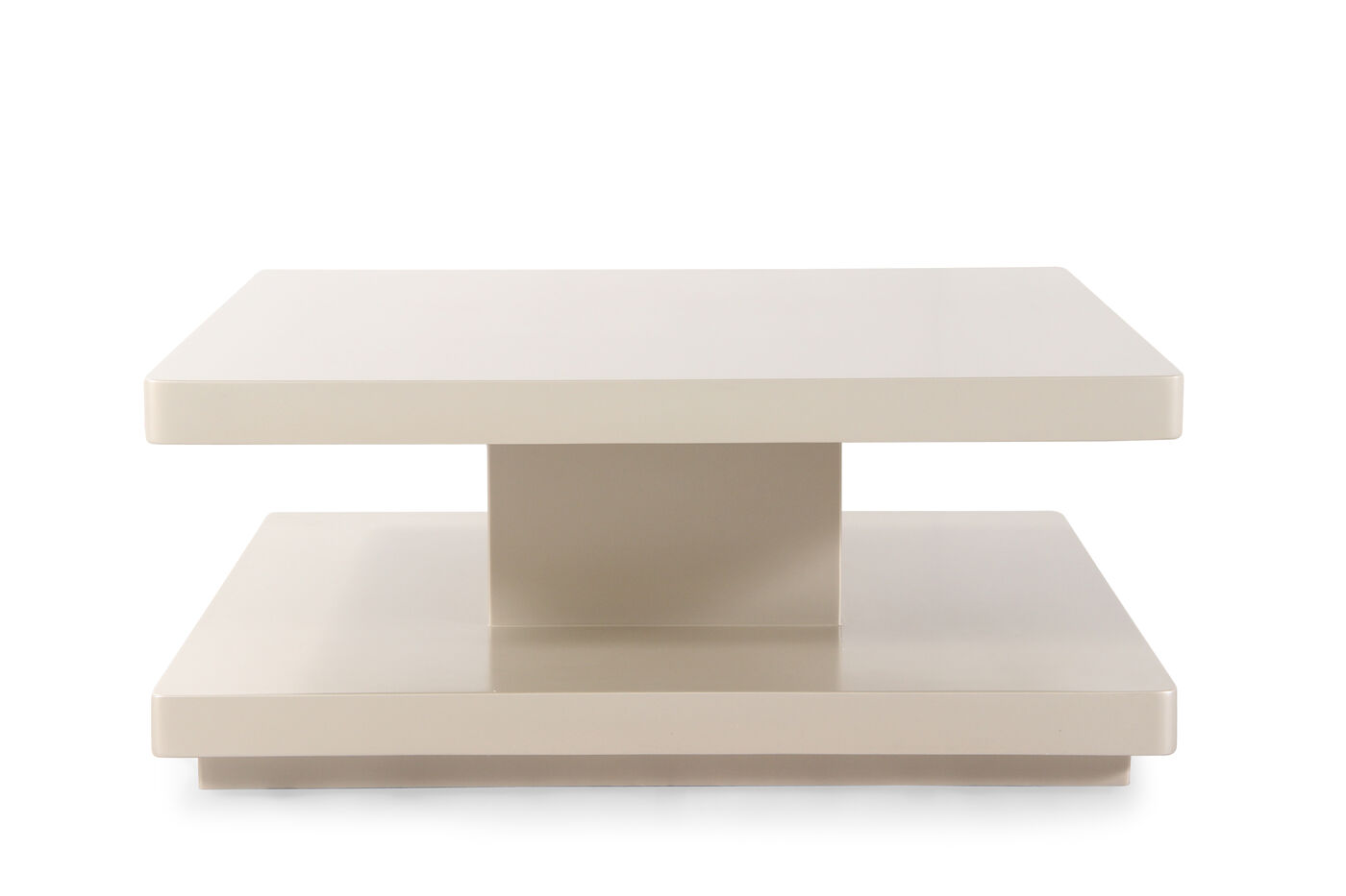 Square transitional cocktail table in pearl mathis for Square cocktail table