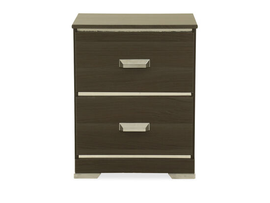 Two-Drawer Contemporary Youth Nightstand in Gray