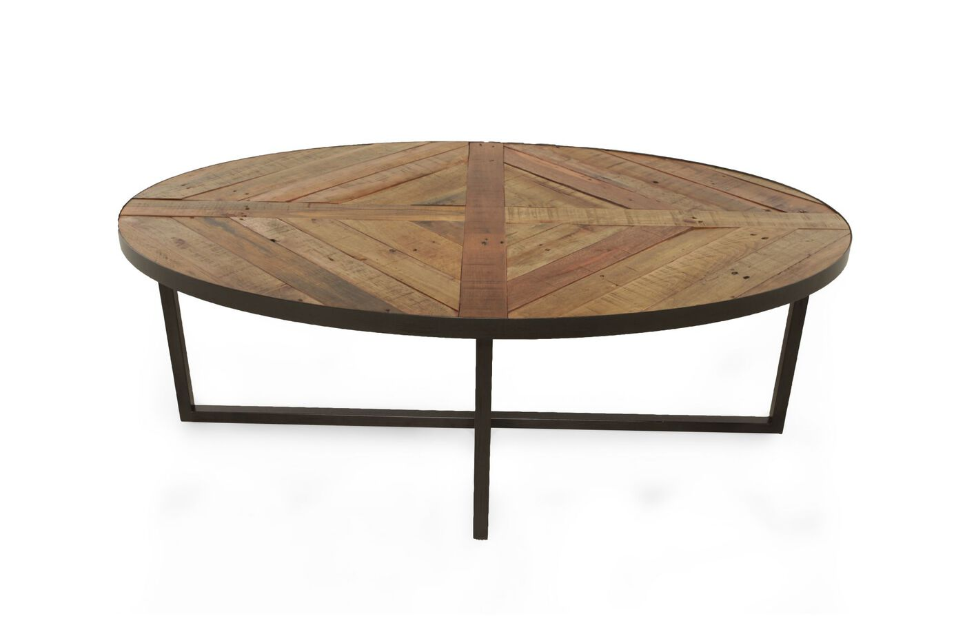 Oval Contemporary Cocktail Table In Sienna Mathis