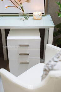Ashley Baraga White File Cabinet