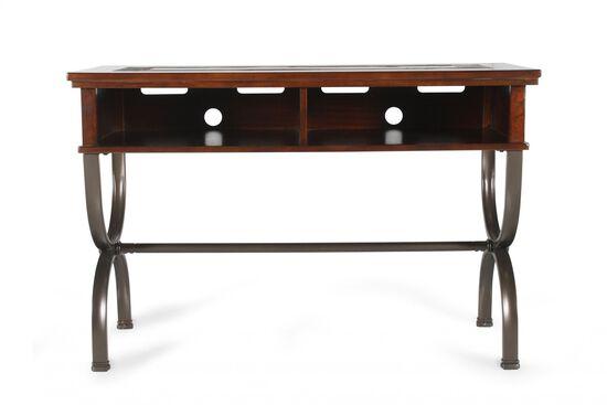Contemporary Hourglass Legs Coffee Table in Dark Cherry