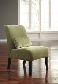 """Textured Traditional 23"""" Accent Chair in Green"""