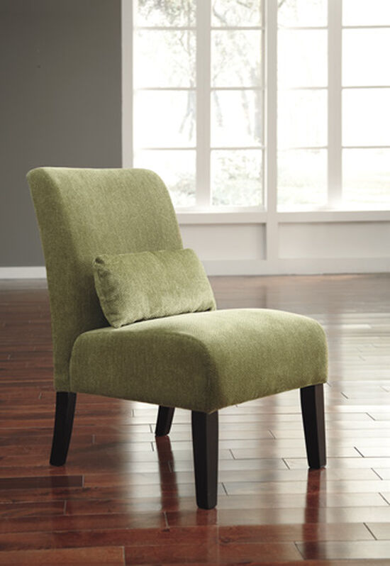 "Textured Traditional 23"" Accent Chair in Green"