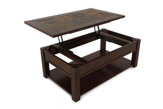 Lift-Top Contemporary Cocktail Tablein Brown