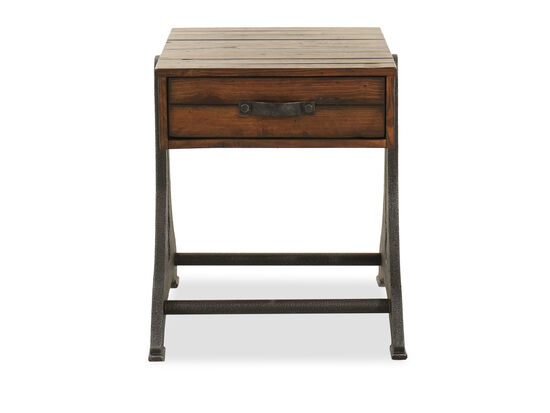 Rectangular End Table in Brown