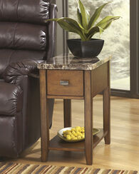 Contemporary One-Drawer End Table in Brown