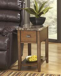 Ashley Breegin Brown Chair Side End Table