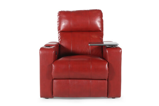 Traditional Home Theater Power Recliner in Red