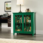 36'' Geometric Doors Contemporary Display Cabinet in Emerald Green