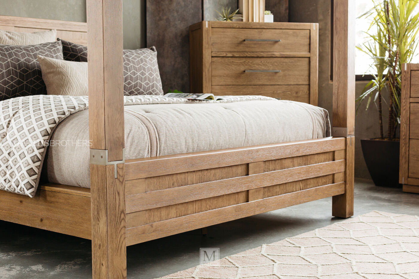 "88"" Modern Interchangeable Panel to Canopy Bed in Rustic ..."