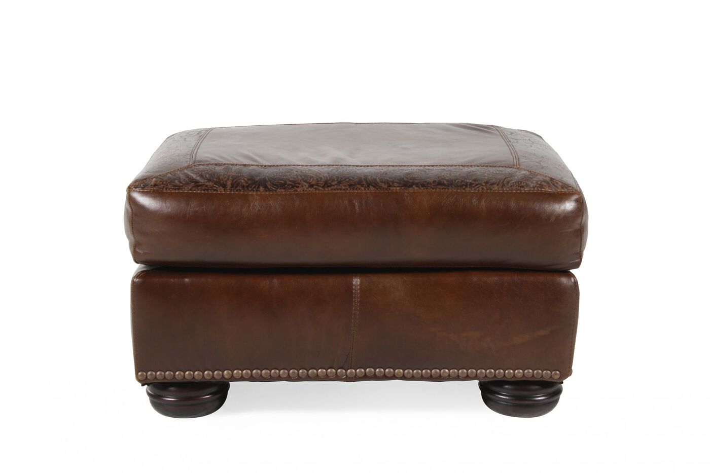 paisley furniture. Images Paisley Print Contemporary 30\u0026quot; Leather Ottoman In Brown Furniture