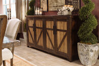 "84"" Distressed Buffet in Dark Brown"
