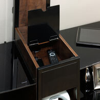 Concealed Storage Traditional Entertainment Credenza in Black