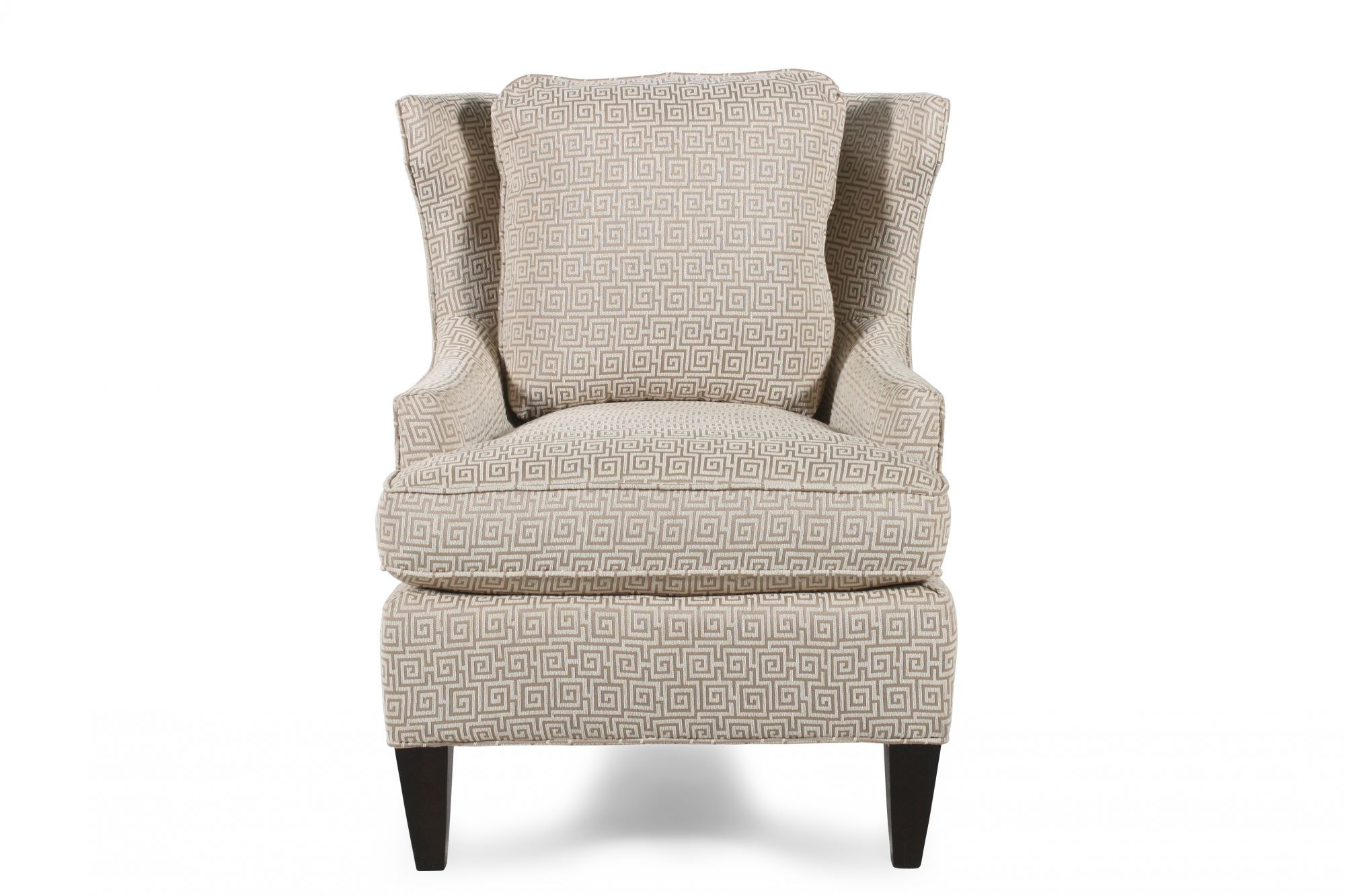 Greek Key Patterned Chair In Cream