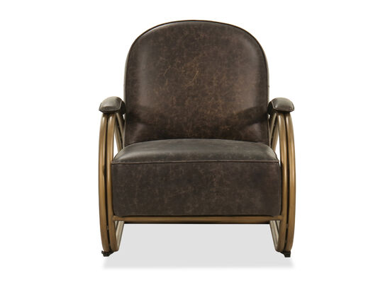 Cushioned Lounge Chair in Brown