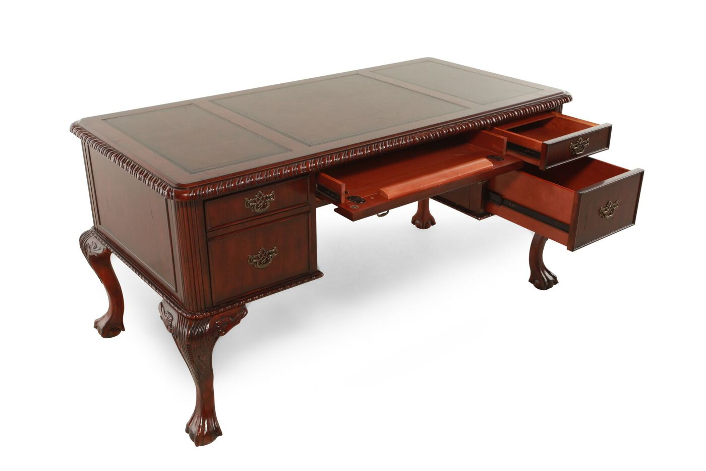 61 Four Drawer Traditional Desk