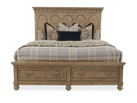 Magnussen Home Graham Hills Wheat Queen Storage Bed