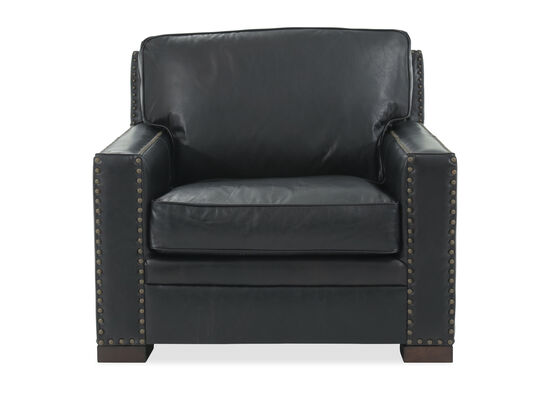 Nailhead Accented Traditional Chair in Black