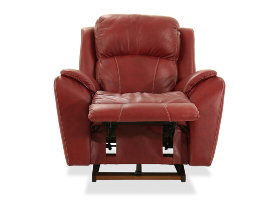 """Traditional 40"""" Rocker Recliner in Fire Red"""