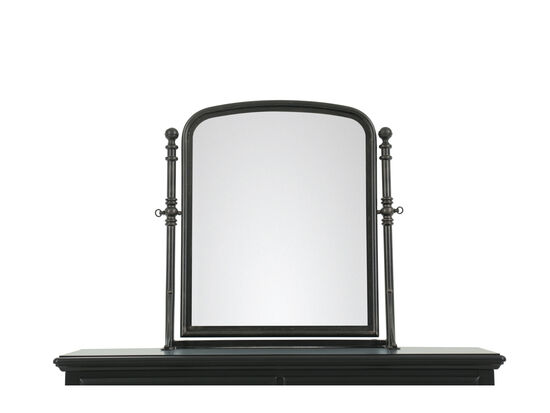 Traditional Youth Tilt Mirror in Dark Black