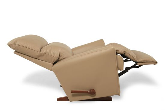 "Contemporary Leather 34"" Rocker Recliner in Almond"