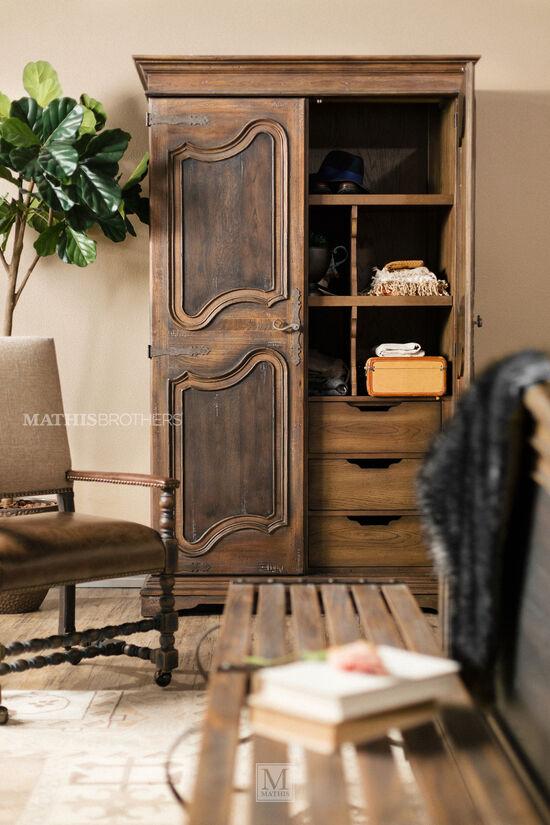 "84"" Refined Romantic Luxury Wardrobein Brown"