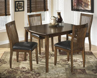 Five-Piece Casual 48'' Dining Set in Medium Brown