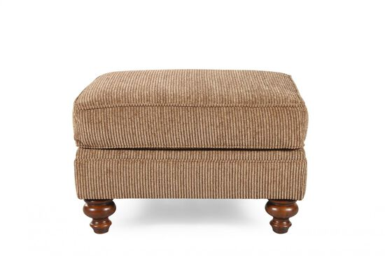 Textured Traditional Ottoman in Brown