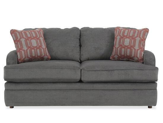 "Traditional 69"" Full Sleeper Sofa in Gray"
