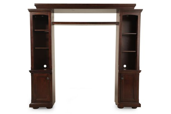 Two-Door Traditional Wall Unit in Burnished Brown