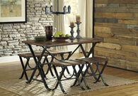 Ashley Freimore Medium Brown Rectangular Dining Room Table Set