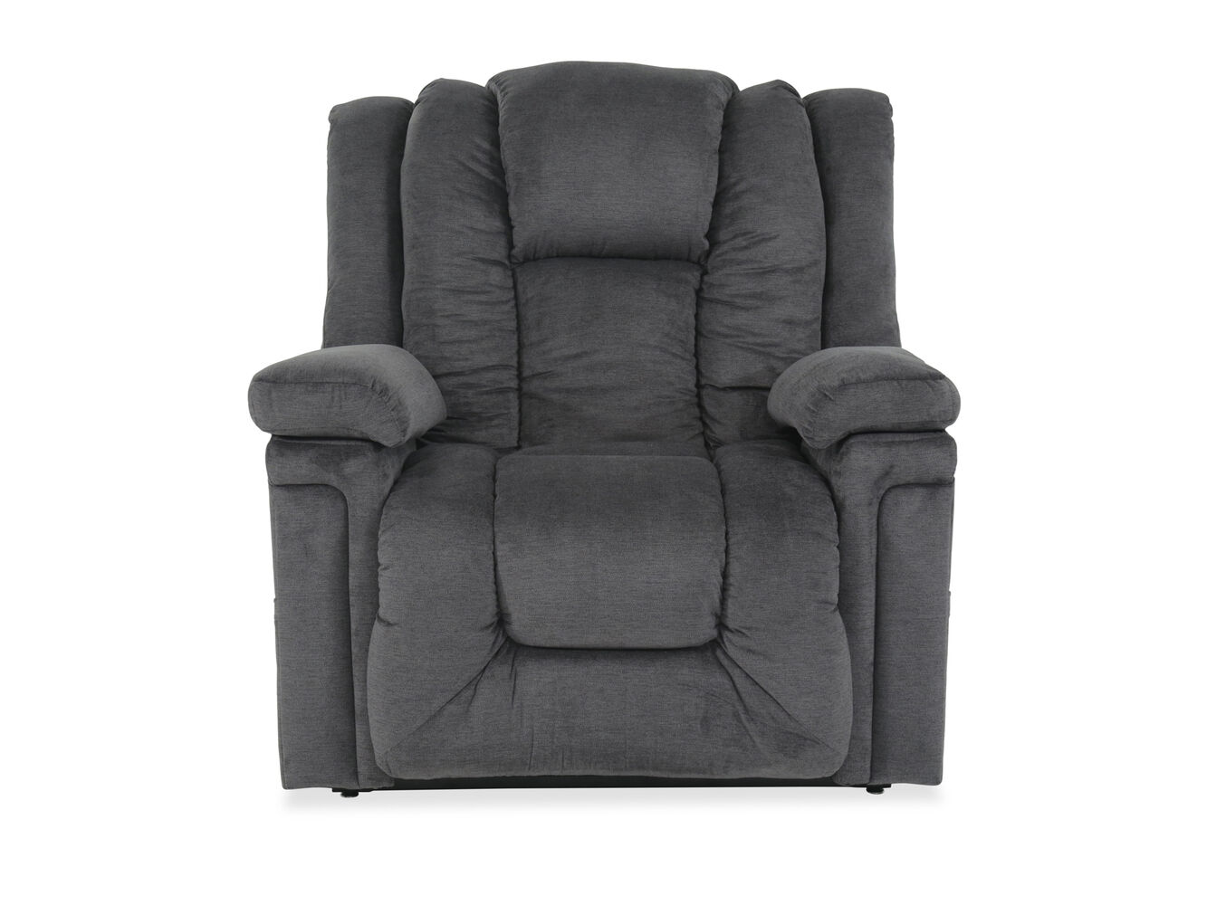 49 Quot Leather Power Lift Recliner In Gray Mathis Brothers