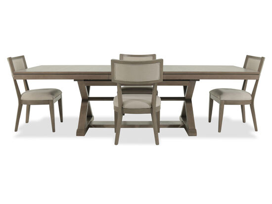 Five-Piece Modern 84'' Dining Set in Brown