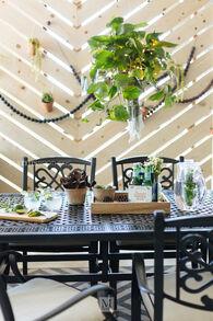 Ashley Burnella Dark Brown Rectangular Dining Table