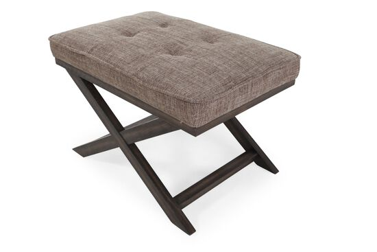 "Button-Tufted Contemporary 27"" Accent Ottoman in Brown"