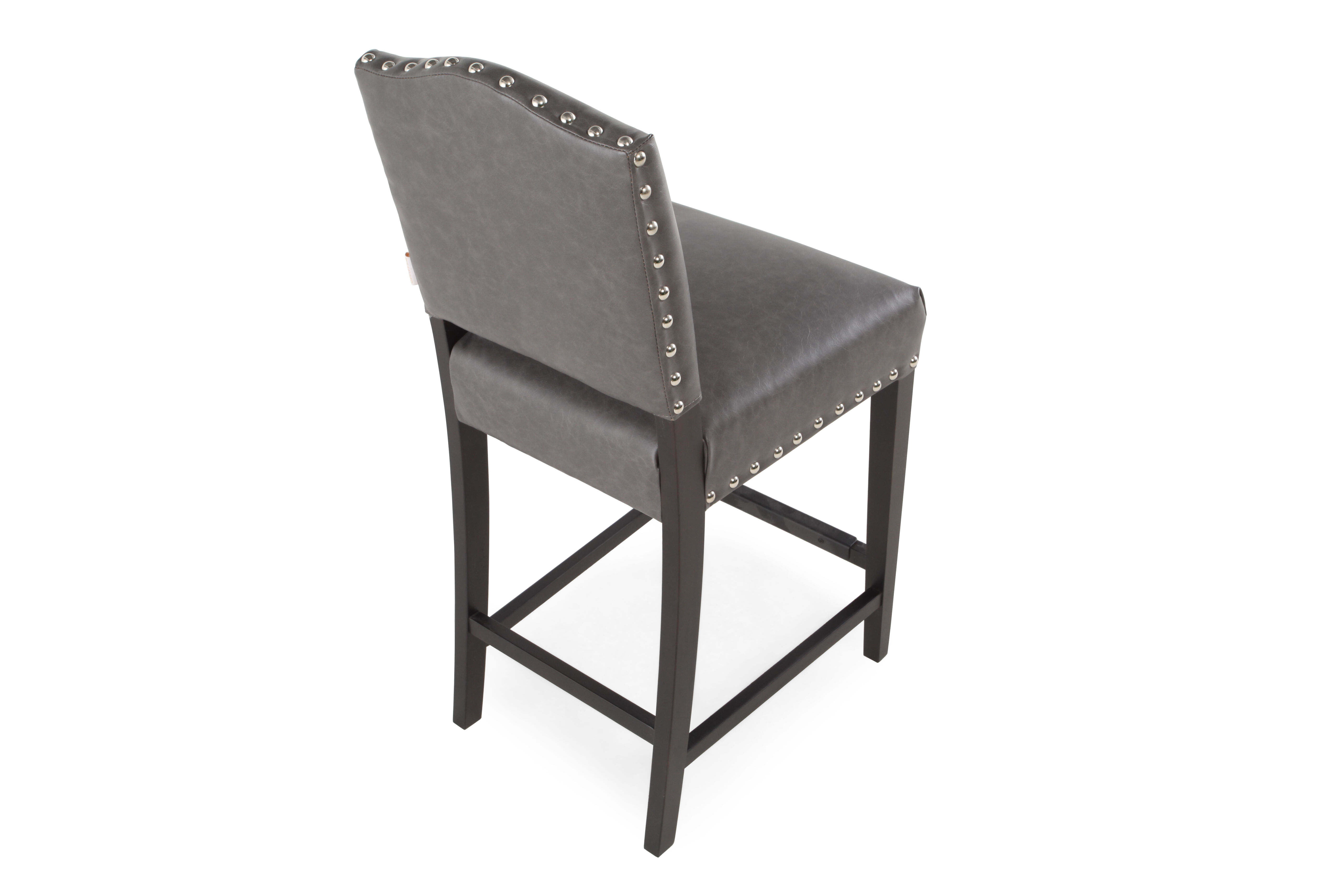 Boulevard Gray Leather Counter Stool  sc 1 st  Mathis Brothers & Boulevard Gray Leather Counter Stool | Mathis Brothers Furniture islam-shia.org