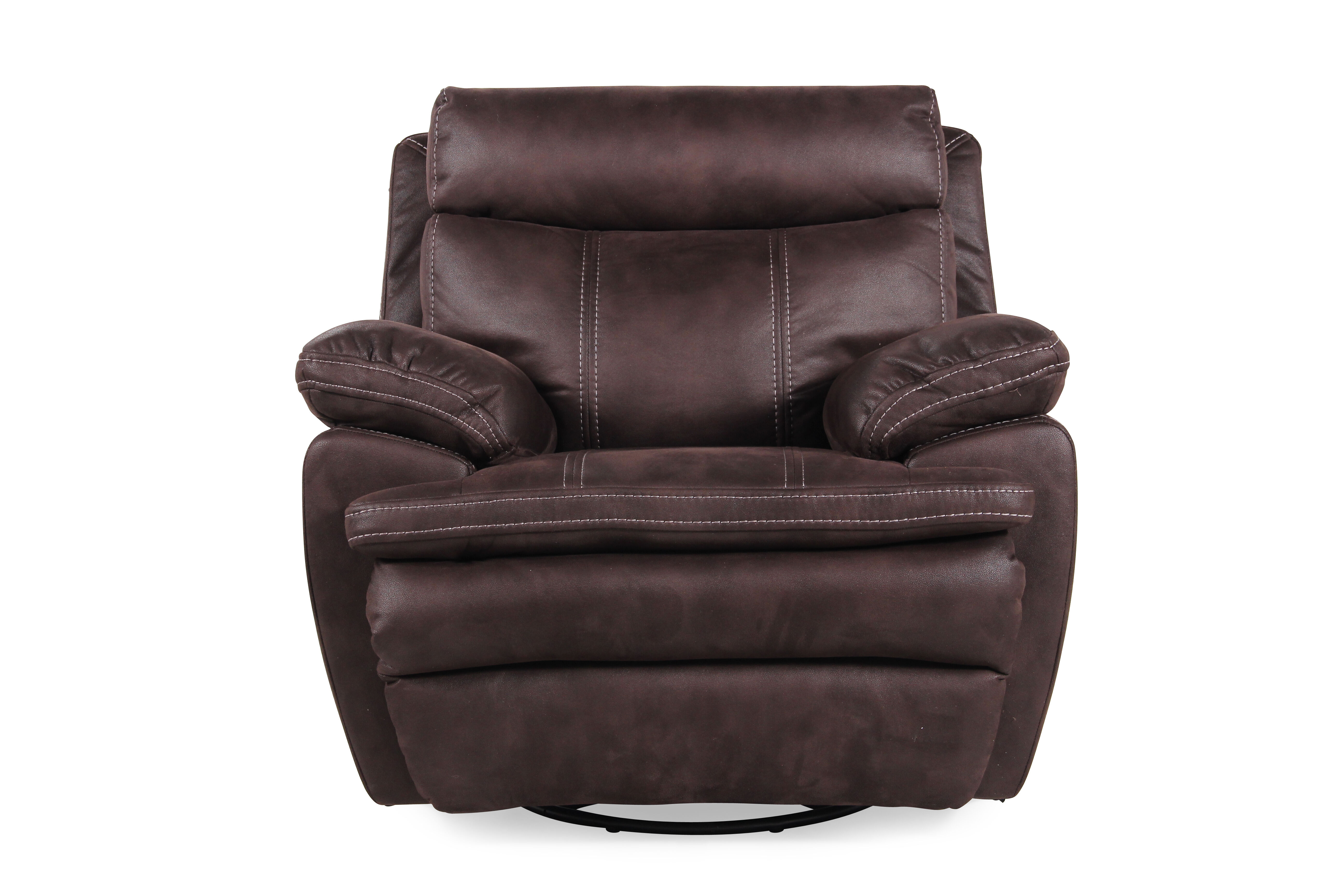 boulevard brown swivel glider recliner
