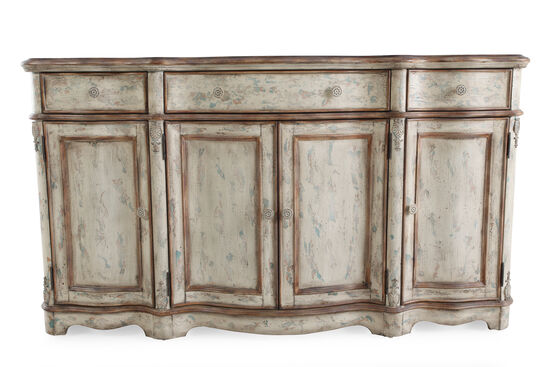 "66"" Serpentine Credenza in Antique Cream"