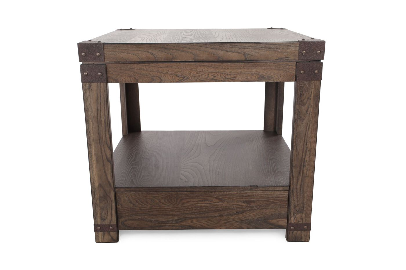 square casual end table in washed brown mathis brothers
