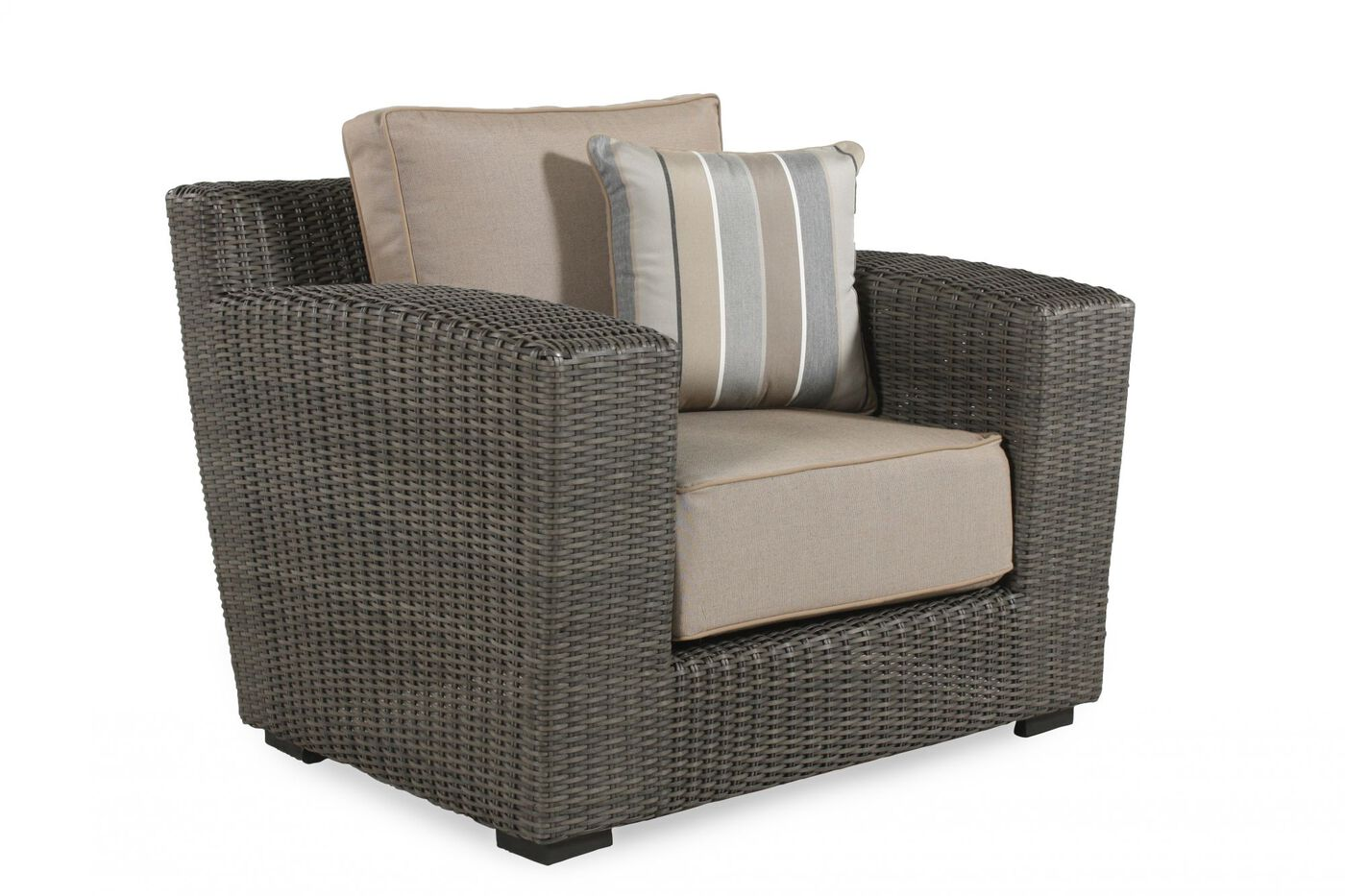 Low Profile Casual Lounge Chair In Dark Gray Mathis