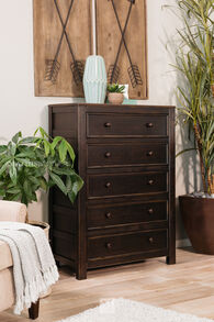 Five-Drawer Casual Chest in Black