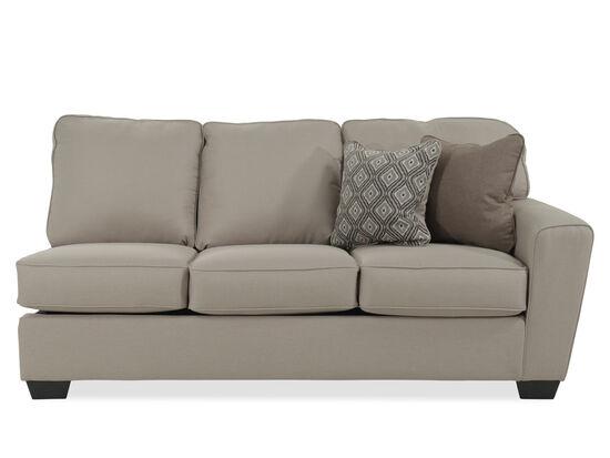 "Contemporary 78"" Right Arm Facing Sofa in Beige"