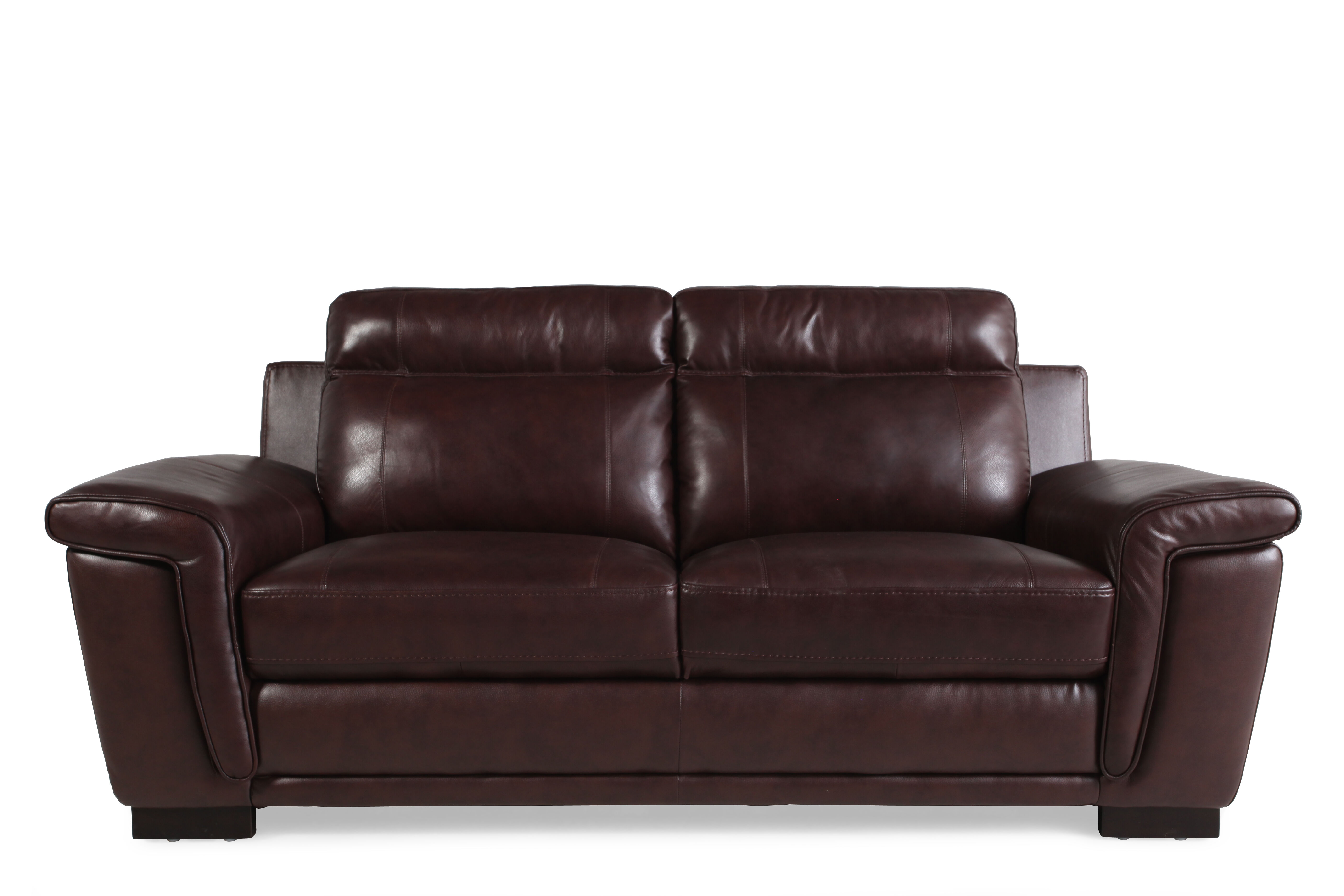 Contemporary 81.5u0026quot; Sofa In Chocolate Brown