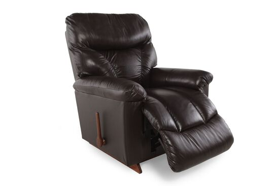 "Contemporary 38"" Recliner in Dark Coffee Brown"