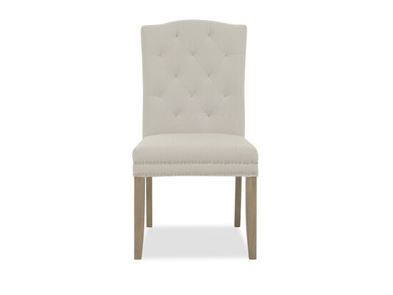 Contemporary Tufted Back Dining Chair in White