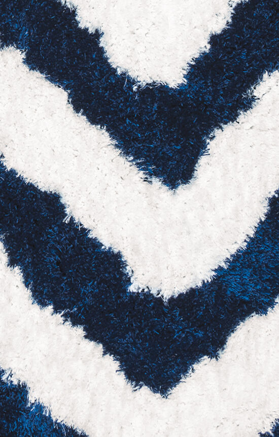 """Casual/Shag Hand-Tufted 3'6""""  x  5'6"""" Rectangle Rug in Navy"""