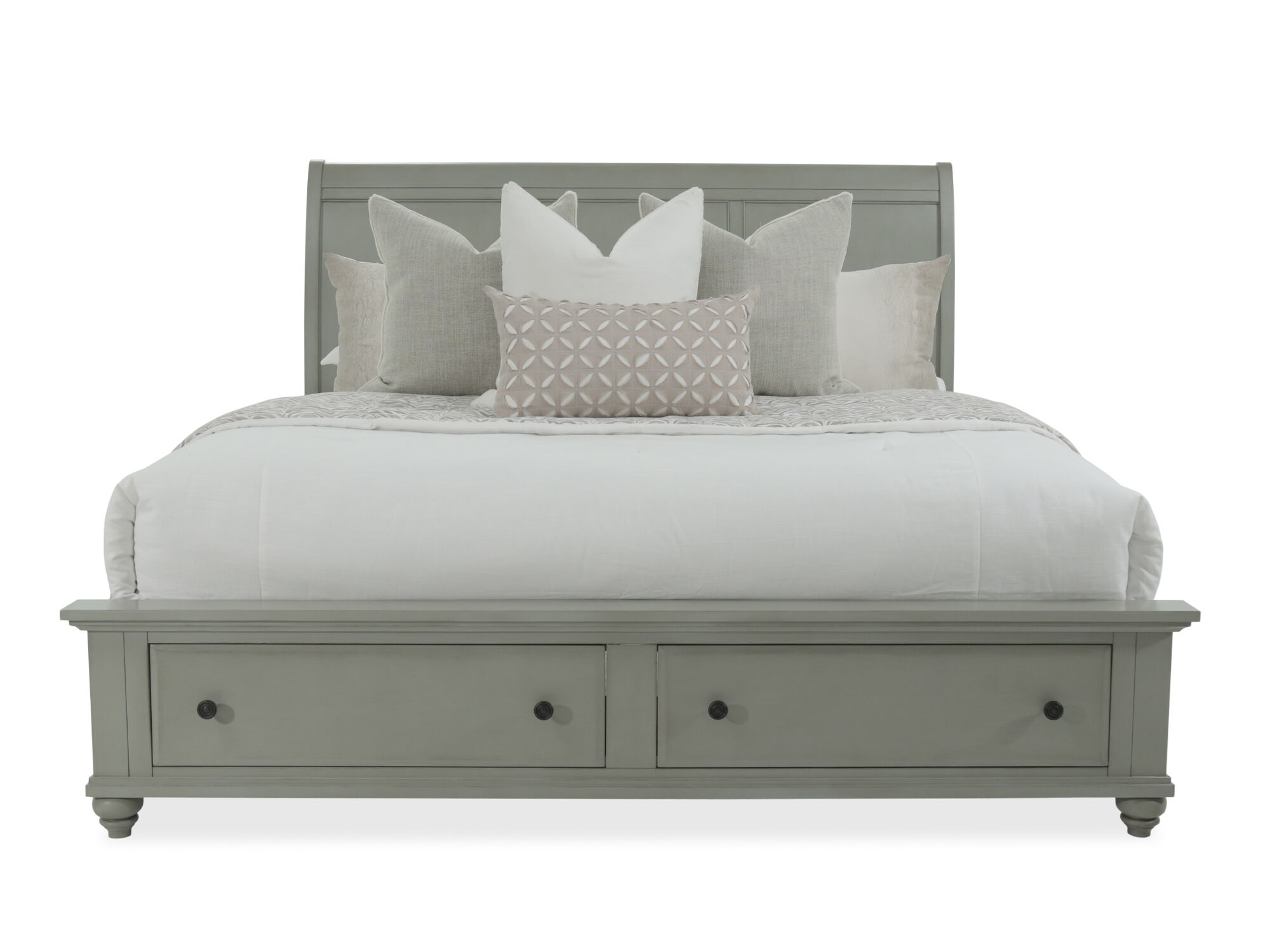 Images 56u0026quot; Contemporary Sleigh Storage Bed In Gray 56u0026quot;  Contemporary Sleigh Storage Bed In Gray