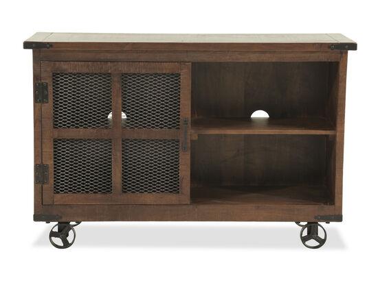 Mesh Door Casual Console Table in Brown