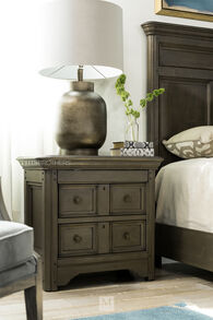 Magnussen Home Shelter Cove Driftwood Drawer Nightstand