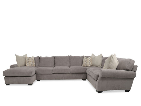 """Three-Piece Casual 169"""" Sectional in Gray"""